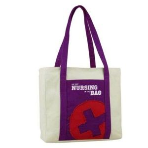 NWT! Nursing in the Bag Canvas Nurse Tote